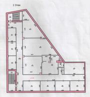 Торговая площпдь 470 кв.м. в торговом центре. 2 этаж.,