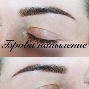 Перманентный макияж бровей в технике